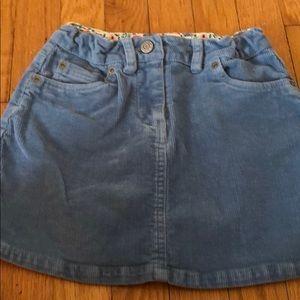 EUC Mini Boden 7-8 Girls Corduroy Skirt